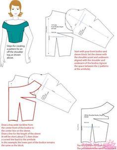 Sewing Blouse Tutorial Pattern Drafting 61 Ideas For 2019 Sewing Hacks, Sewing Tutorials, Sewing Crafts, Sewing Projects, Pattern Drafting Tutorials, Dress Tutorials, Pattern Cutting, Pattern Making, Dress Sewing Patterns