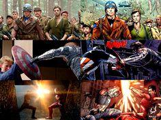 "Captain America : movies versus comics. First Avenger, The Winter Soldier, Civil War. Steve Rogers & James ""Bucky"" Buchanan Barnes."