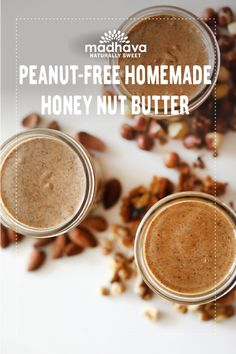 Peanut-Free Homemade Honey Nut Butter 3 Ways | Madhava