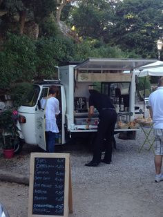 Coffee cart in Eze France? Yeah, I never saw anything like this the whole year we lived there