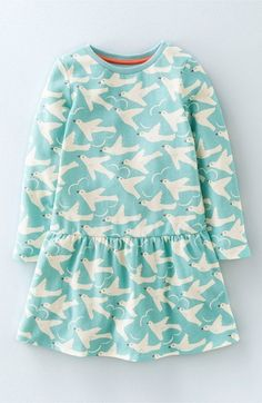 Mini Boden 'The Sweatshirt' Brushed Cotton Blend Dress (Toddler Girls, Little Girls & Big Girls)