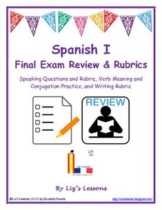 $ Need to prepare your students for their Spanish I final exam? This packet will save you a lot of time!