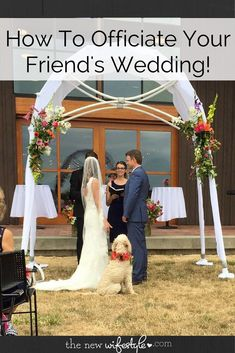Have you been asked to marry a friend? Here's how to officiate a wedding, whether it's a non-traditional wedding or traditional! Non Religious Wedding Ceremony, Wedding Ceremony Script, Unity Ceremony, Friend Wedding, Our Wedding, Wedding Stuff, Wedding Blog, Wedding Ideas, Wedding Officiant Script