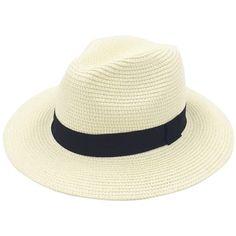 c3883a5e4a759 Panama Hat Women Wide Brim Straw Roll up Fedora Beach Sun Hat SALE  fashion