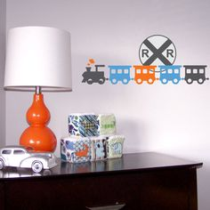 Train Wall Art boys train with name wall decal - train monogram bedroom wall art