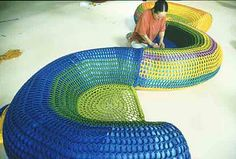 Japanese Crochet Artist (Toshiko Horiuchi MacAdam) Builds Sculptures for Children to Play on. « Butterscotch Tabby