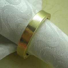 Gold Wedding Napkin Ring Set of 6, Metal Dia 4.5cm – USD $ 12.99