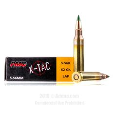 PMC 5.56x45 Ammo - 20 Rounds of 62 Grain FMJ Ammunition #556x45 #556x45Ammo #PMC #PMCAmmo #PMC556x45 #FMJAmmo #PMCXTac