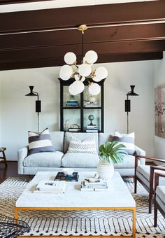 See Inside Sophia Bush's Chic and Light-Filled Cottage Guesthouse in Hollywood Hills - The Seating Area from InStyle.com
