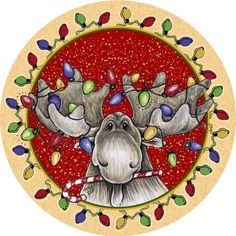 Thirstystone Big Sky Christmas Moose Occasions Coaster Set of 4 Christmas Moose, Christmas Coasters, Christmas Animals, Christmas Pictures, Vintage Christmas, Christmas Scenes, Christmas Kitchen, Christmas Things, Christmas Projects