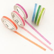 Thin+washi+tapes+with+crayon+print+in+6+colors  Quantity:+6+pcs Size:+7+mm(W)+x+7+m(L)