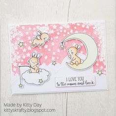 Kittys Krafty Blog Mama Elephant Stamps, Scrapbook Cards, Scrapbooking, Baby Crafts, Cute Bunny, Cool Cards, Kids Cards, Card Making, Paper Crafts