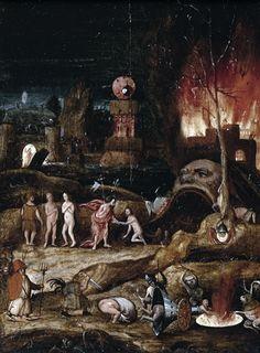 Herri met de Bles-Christ's Descent into Hell. Detail.