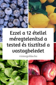 Detox: Use this 12 food to detoxify your body and cleanse your colon Source by vizmegoldas Detoxify Your Body, Nutribullet, Cleanse, Blueberry, Healthy Lifestyle, The Cure, Vitamins, Food And Drink, Fruit