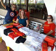 Ação de vendas no Iate clube com a funcionária Rosely e as voluntárias Tânia e Lourdes.  #EQUIPEGACC