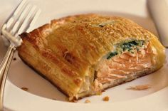 Salmon Wellington Recipe - MasterChef Canada used Swiss Chard, Shallots and Garlic in place of the spinach