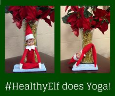 #HealthyElf knows that yoga is an important exercise for maintaining flexibility and balance- traits we all need during the holidays! Photo courtesy of Huron County Public Health https://www.facebook.com/Huroncohealth?ref=br_rs