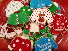 Ugly Xmas sweater cookies