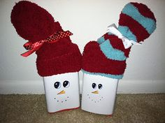 The Crafty Community: Adorable Snowman Gifts