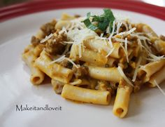 Rachel Ray's Pumpkin & Sausage Pasta (this links to a blog that links to it - RR's website didn't have a pic)