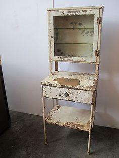 Vintage Medical Cabinet Scientific Dental