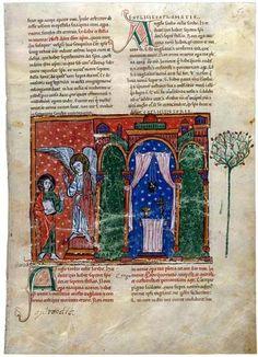 Carta a la iglesia de Sardis. Beato de Liébana, Comentarios del Apocalipsis. España 1220 Comprado por Pierpont Morgan, 1910 MS M.429 (fol. 50)