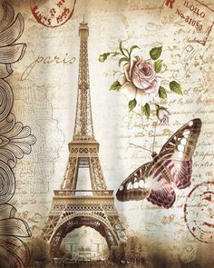 cm x cm Retro Eiffel Tower & Butterfly Shower Curtain Bathroom Waterproof Fabric Curtain - Luxury Designer Fixures Vintage Paris, Retro Vintage, Vintage Floral, Fabric Shower Curtains, Bathroom Shower Curtains, Butterfly Shower Curtain, Stamp Printing, 3d Printing, Tower Design