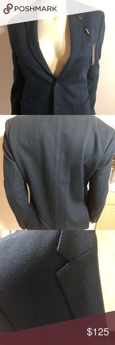 MICHAEL KORS MEN SPORTS COAT Navy Men's Sports Jacket. Has two buttons and double splits in the back as shown on photo. Brand New with Tags. Purchased for my Son  was to small. Michael Kors Suits & Blazers Sport Coats & Blazers