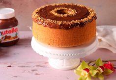 CHIFFON CAKE ALLA NOCCIOLA CON NUTELLA American Cake, Chiffon Cake, Sponge Cake, Cake Cookies, Biscotti, Panna Cotta, Vanilla Cake, Italian Recipes, Cheesecake