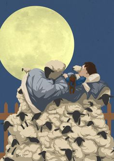 Supermoon illustration by Eric Chow. Represented by i2i Art Inc. #i2iart