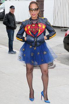 Marjorie Harvey Was a Valentino-Approved Superhero at Paris Fashion Week - Fashionista Diva Fashion, New York Fashion, Look Fashion, Fashion Photo, Paris Fashion, Fashion Design, Street Fashion, Marjorie Harvey, Steve Harvey