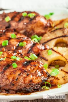 This Hawaiian Huli Huli Chicken is tender, healthy, and SO delicious! This flavorful chicken has been a favorite in Hawaii; you can easily make it at home. Honey Soy Chicken, Grilled Teriyaki Chicken, Chicken Steak, Baked Chicken, Grilled Pineapple Chicken, Hawaiian Chicken, Chicken Flavors, Chicken Recipes, Huli Huli Chicken