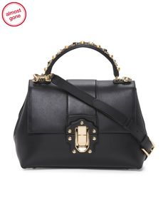 $1999.00 TJ Made+In+Italy+Lucia+Leather+Bag
