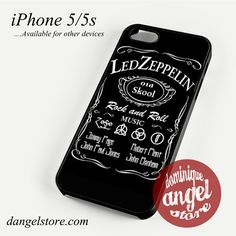 Led Zeppelin in Jack Deniels Phone case for iPhone 4/4s/5/5c/5s/6/6 plus