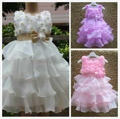 2015 Pearl Girls Flower Dresses Baby Girls Purple Princess Dress With Bow Chiffon Layered Kids Party Dresses Vestido Infantil -in Dresses from Kids & Mothercare on Aliexpress.com | Alibaba Group