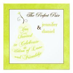 "Wedding Invitation | The Perfect Pair 5.25"" Square Invitation Card"