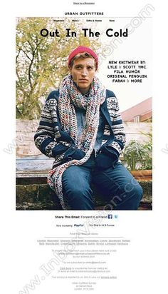 Company:    Urban Outfitters Europe Subject:    Winter Warmers - New Men's Knitwear             INBOXVISION, a global email gallery/database of 1.5 million B2C and B2B promotional email/newsletter templates, provides email design ideas and email marketing intelligence.  http://www.inboxvision.com/blog  #EmailMarketing #DigitalMarketing #EmailDesign #EmailTemplate #InboxVision #Emailideas #NewsletterIdeas