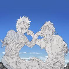 Sasuke x Naruto Anime Naruto, Naruto Vs Sasuke, Naruto Fan Art, Naruto Cute, Naruto Funny, Sakura And Sasuke, Sasunaru, Narusasu, Naruhina