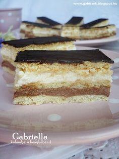 Gabriella kalandjai a konyhában :) Hungarian Desserts, Hungarian Recipes, Winter Food, Cake Cookies, Vanilla Cake, Nutella, Bakery, Dessert Recipes, Food And Drink