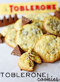Toblerone Cookies - some of the best cookies you'll ever put in your mouth!