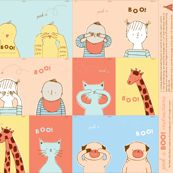 Fabric to sew into books for baby