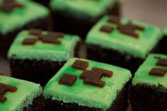 minecraft brownies!