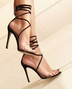 Perfect heels, love transparancy in combination perfect pedicure and nail polish