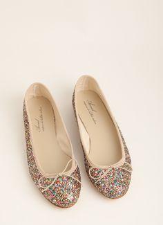 anniel glitter ballet flats - these are super cute