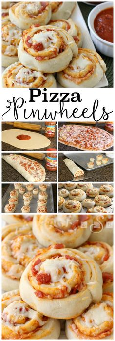 PIZZA PINWHEELS - Butter with a Side of Bread