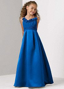 83a3ef6244e Junior Bridesmaid Dresses and Gowns at Davids Bridal but in purple instead  (lapis) Brown