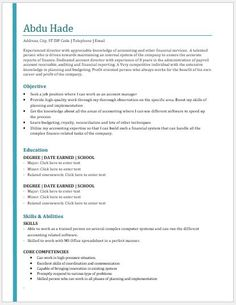 2018 Resume Templates Accountant Resume 2018 Template Download At Httpwriteresume2