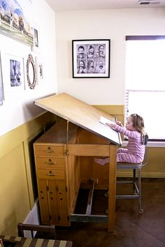 Signature Design by Ashley Shayneville Counter Height Drafting Desk | from  hayneedle.com | Home - studio redo | Pinterest | Drafting desk, Desks and  Rustic ...
