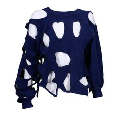 1stdibs   Slashed Sweatshirt  1980's U.K.