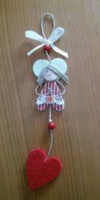 sanagrillia: Angioletti Custodi per bomboniere Christmas Sewing, Primitive Christmas, Simple Christmas, All Things Christmas, Kids Christmas, Diy Xmas Gifts, Felt Crafts, Christmas Crafts, Diy And Crafts